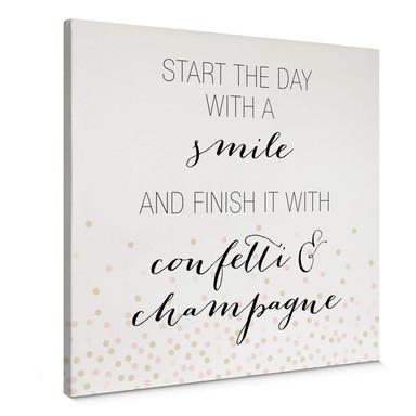 Leinwandbild Confetti & Cream - Start the day with a smile