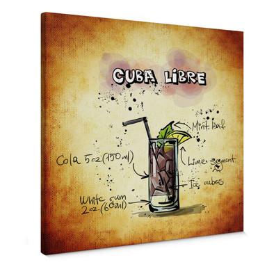Leinwandbild Cuba Libre - Rezept