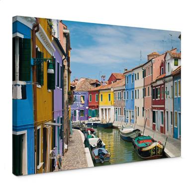 Leinwandbild Farbenfrohes Venedig