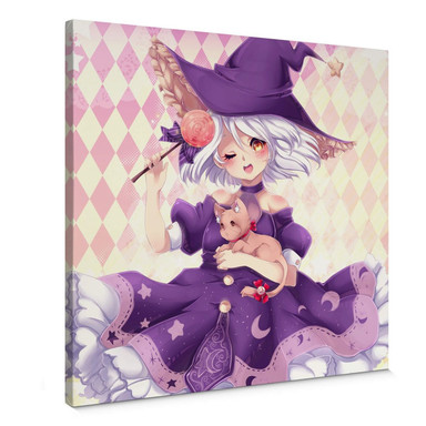Leinwandbild La Doll Blanche - Little Witch