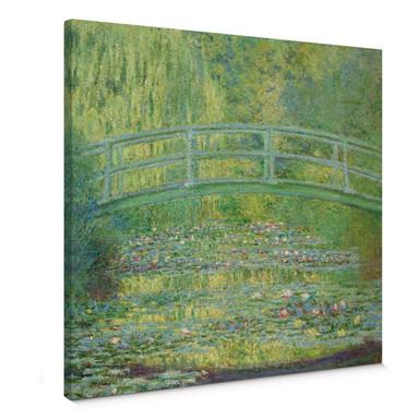 Leinwandbild Monet - Seerosenteich und japanische Brücke