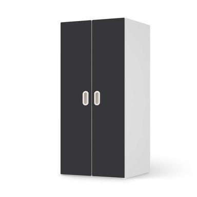 Möbelfolie IKEA Stuva / Fritids Schrank - 2 grosse Türen - Grau Dark