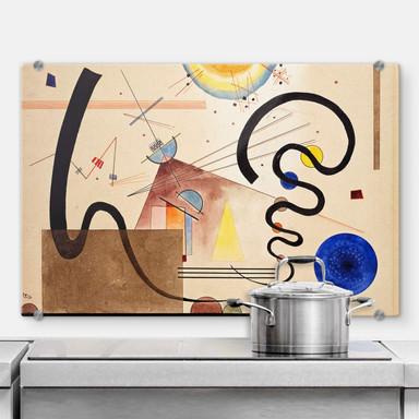 Spritzschutz Kandinsky - Zwei Bewegungen