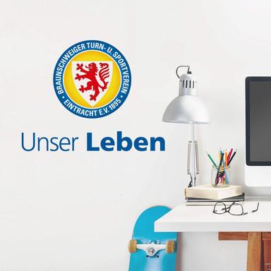 Wandsticker Eintracht Braunschweig Unser Leben