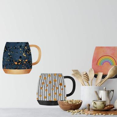 Wandtattoo Fredriksson - Kaffeetassen-Set - Sonne, Mond und Sterne