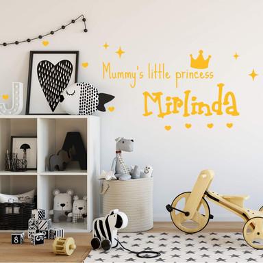 Wandtattoo & Name Mummy's little Princess