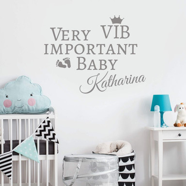 Wandtattoo Name VIB - Very important Baby