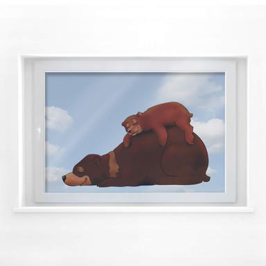 Fensterbild Braunbären