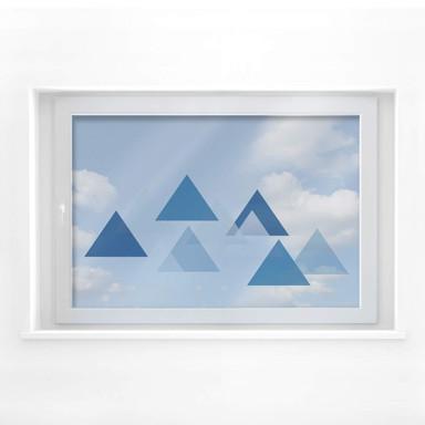 Fensterbild Dreieckswolke blau