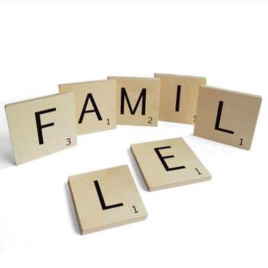 Holzbuchstaben Buchstabensteine Famille