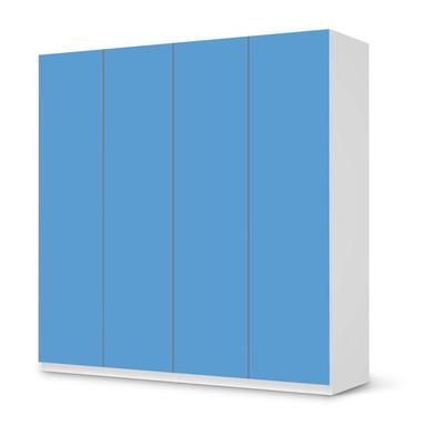 Klebefolie IKEA Pax Schrank 201cm Höhe - 4 Türen - Blau Light- Bild 1