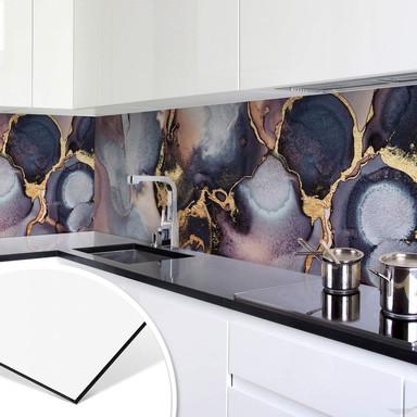 Küchenrückwand Fredriksson - Tinte: Rosé und Gold