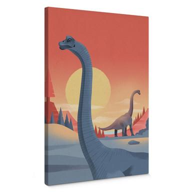 Leinwandbild Braun - Brachiosaurus