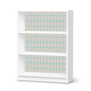Möbelfolie IKEA Billy Regal 3 Fächer - Fleur