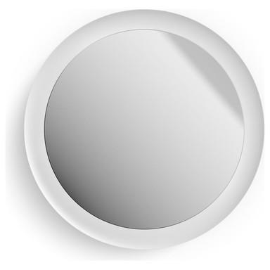 Philips Hue Bluetooth White Ambiance Adore Spiegel mit Beleuchtung in Weiss 2400lm mit Dimmschalter