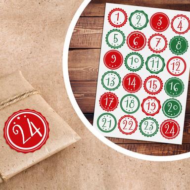 Sticker Adventskalender Vintage