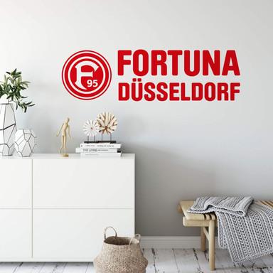 Wandsticker Fortuna Düsseldorf Logo mit Schriftzug