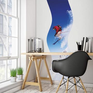 Wandsticker Ski-Jump-Welle
