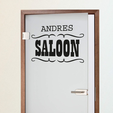 Wandtattoo + Name - Saloon