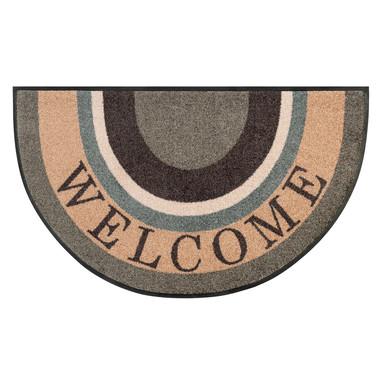 Wash&Dry Fussmatte Round Welcome 50x85cm