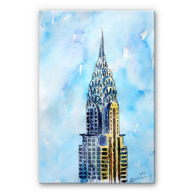 Acrylglasbild Bleichner - Chrysler Building in NYC