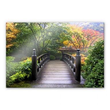 Acrylglasbild Brücke im Grünen
