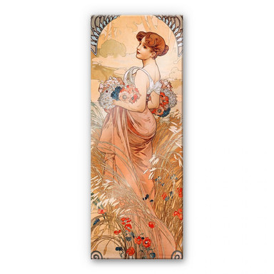Acrylglasbild Mucha - Jahreszeiten: Der Sommer 1900