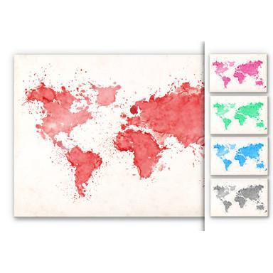 Acrylglasbild Weltkarte Aquarell