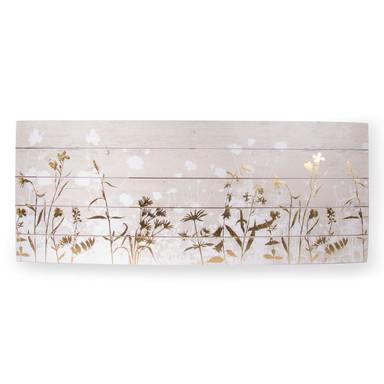 Holzbild Metallic Wood Meadow - Bild 1