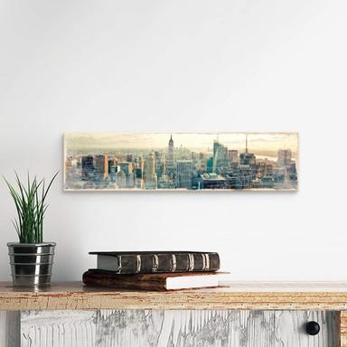 Holzschild Skyline von New York City