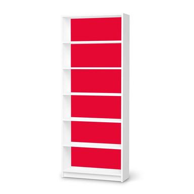 Klebefolie IKEA Billy Regal 6 Fächer - Rot Light- Bild 1