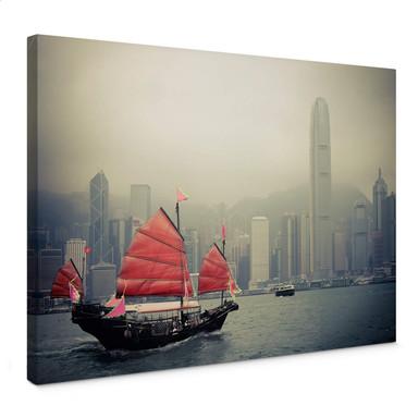 Leinwandbild Sailing in Hongkong