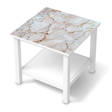 Möbel Klebefolie IKEA Hemnes Tisch 55x55cm - Marmor rosa