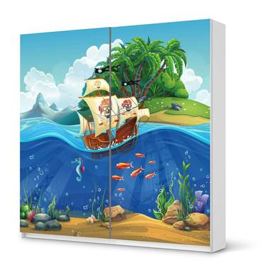 Möbel Klebefolie IKEA Pax Schrank 201cm Höhe - Schiebetür - Pirates- Bild 1