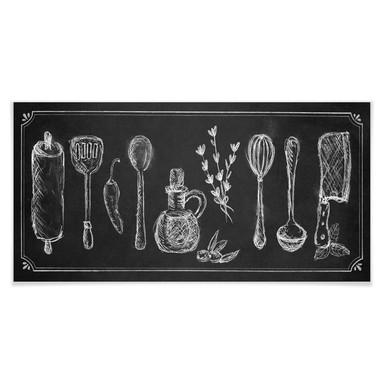Poster Rustic Kitchen - Panorama