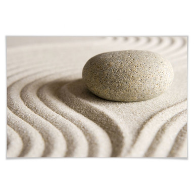 Poster Stone in Sand 1