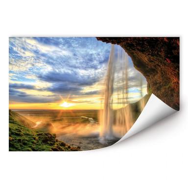 Wallprint Seljalandsfoss Wasserfall