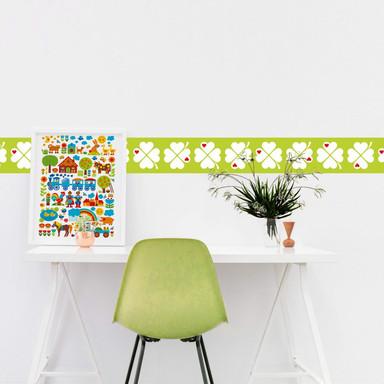 Wandtattoo byGraziela - Bordüre Kleeblatt grün - 120x25cm - Bild 1