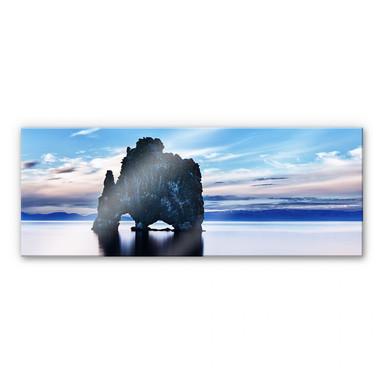 Acrylglasbild Felsen im Meer - Panorama