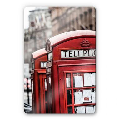 Glasbild Britische Telefonzelle