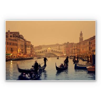 Hartschaumbild Sunset in Venice