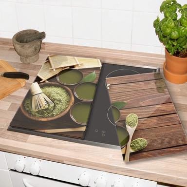Herdabdeckplatte - Matcha Tea