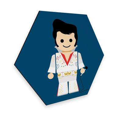 Hexagon - Alu-Dibond Gomes - Elvis Spielzeug
