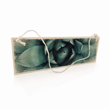 Holzschild Agave 02