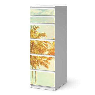 Klebefolie IKEA Malm Kommode 6 Schubladen (schmal) - Sun Flair- Bild 1