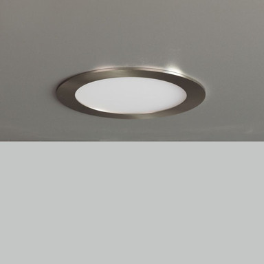 LED Panel 21W 1200lm 3000K in Nickel-satiniert 170mm rund