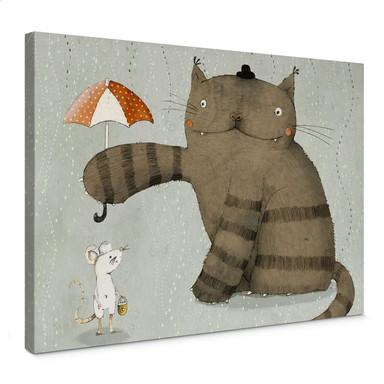 Leinwandbild Loske - Regenschirm