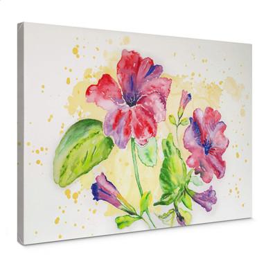 Leinwandbild Toetzke - Leuchtender Blütenkelch