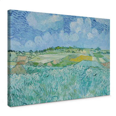 Leinwandbild van Gogh - Die Ebene bei Auvers