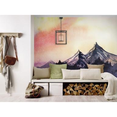 Livingwalls Fototapete Designwalls Mountain Paint Berge - Bild 1